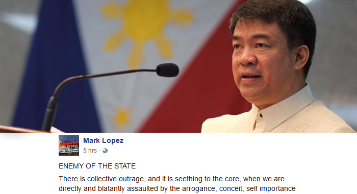 Duterte supporter to Pimentel: You are enemy of the people of the Philippines