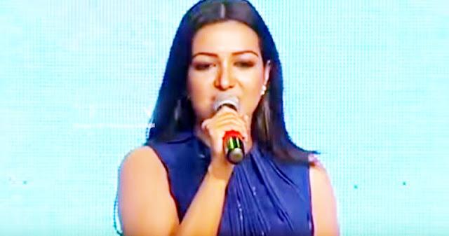 Actress Catherine Tresa delivers in Telangana Mass Dialogue