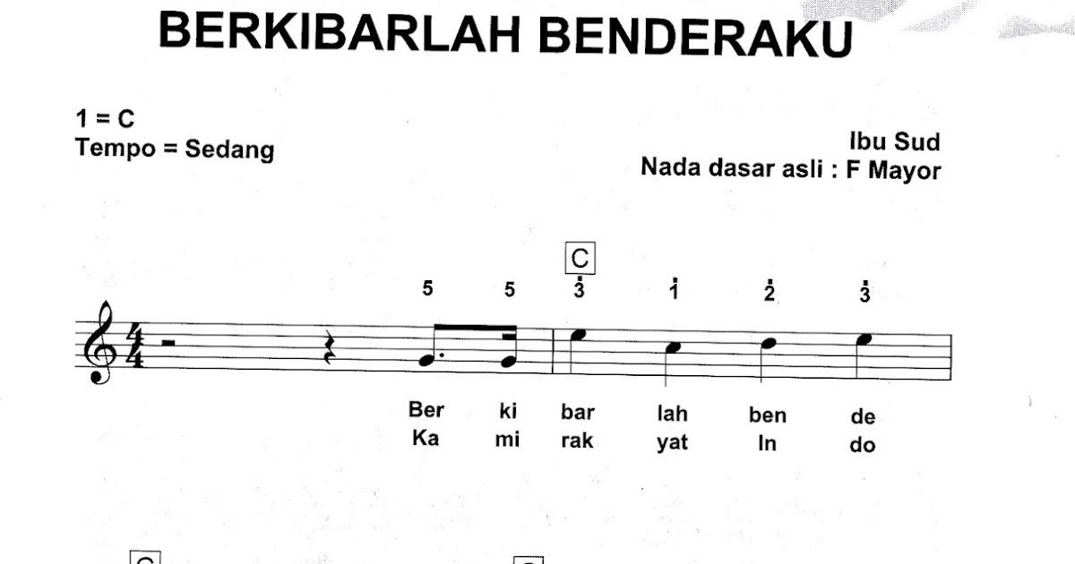 Berkibarlah Benderaku | Partitur Lagu Nasional Indonesia