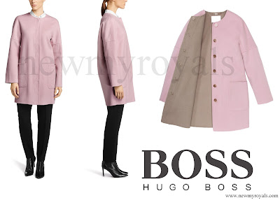 Queen Letizia wore HUGO BOSS Cosyna Coat
