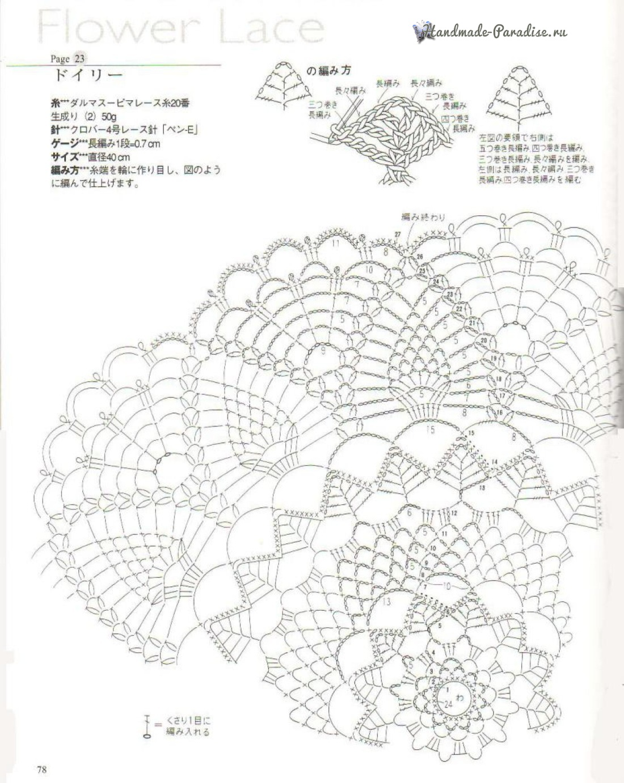 Японский коврик крючком схема 80