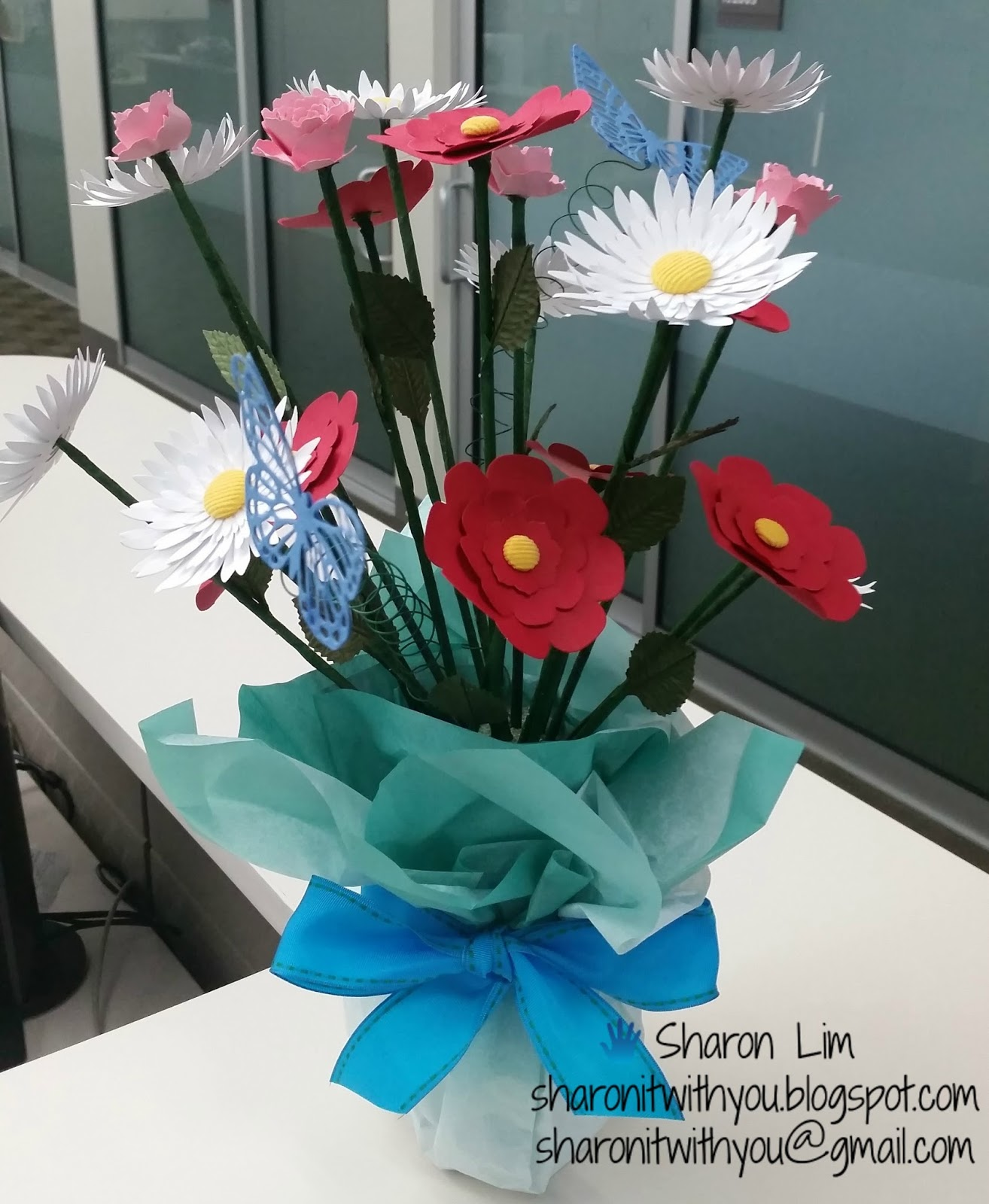Sharon It With You Paper Flower Arrangement