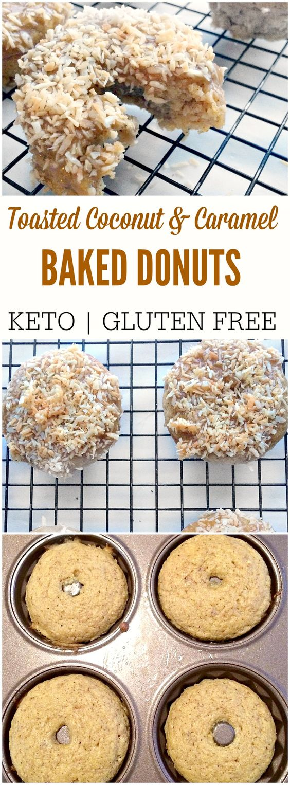 LOW CARB TOASTED COCONUT DONUTS