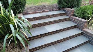 Kandla grey Indian sandstone steps