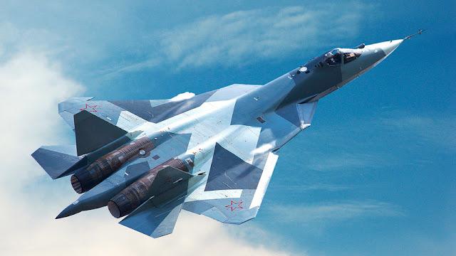Image Attribute: a T-50 prototype of Sukhoi Su-57 during flight. / Source: JSC Sukhoi
