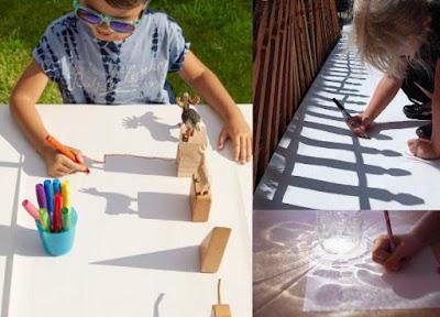 Aprender a dibujar con las sombras del sol o de una lampara
