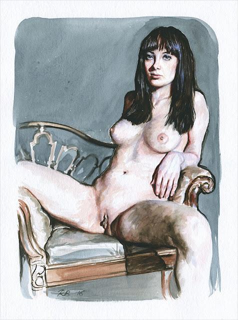 René Bui - Etude de nu à l'aquarelle #160183