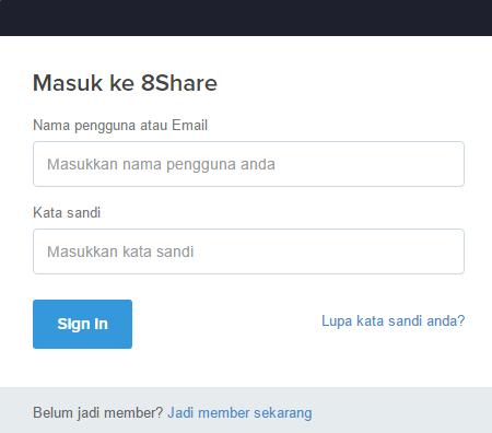 Sharing Artikel Di Sosial Media, Dapet Imbalan Uang Cash, Bonus dan Hadiah Dari 8Share ?