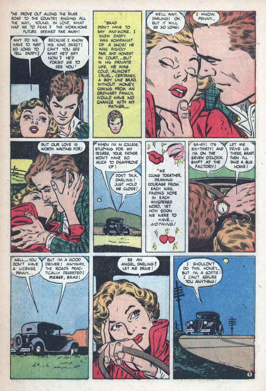 Best Romance v1 #5 standard romance comic book page art by Alex Toth