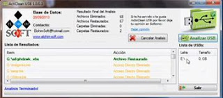 Recover files from a USB stick with ActiClean