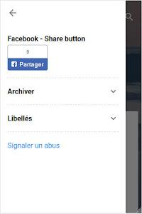 Le bouton de partage de Facebook, dans un thème version 3.