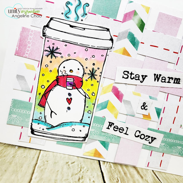 ScrappyScrappy: Unity Stamp - Snowman to go #scrappyscrappy #unitystampco #lisaglanz #youtube #quicktipvideo #cardmaking #papercraft #stamp #stamping #copicmarkers #christmascard #holidaycard #winter#winterwonderland #snowman #snowmantogo #snowmancoffee #paperweave #paperweaving