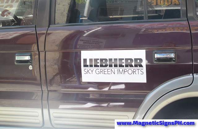 Vehicle Magnetic Sticker - Liebherr Skygreen Imports