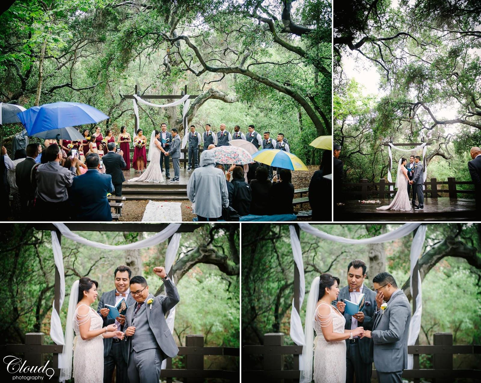 Christine Jonathan Wedding Day At Oak Canyon Nature Center