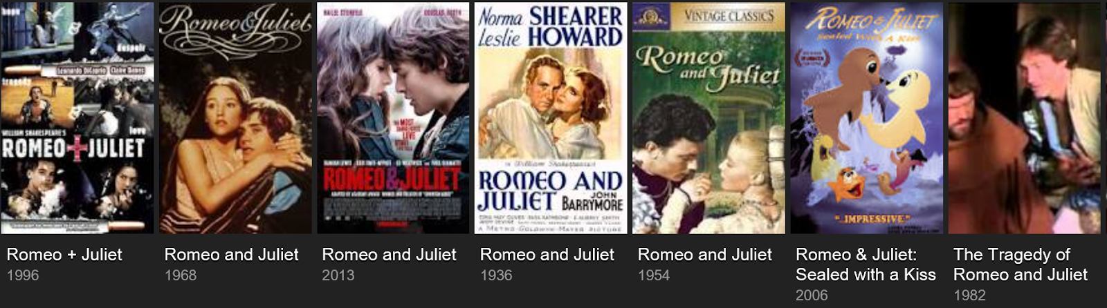 ideas for modernizing romeo and juliet