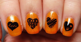 Heart Stamped Nails