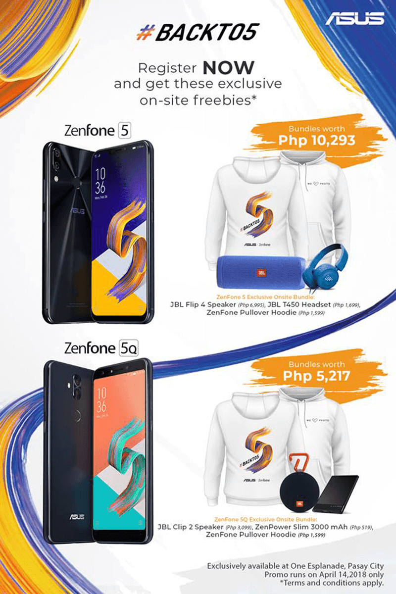 ASUS ZenFone 5Q and 5 will come with up to PHP 10,293 worth of freebies!