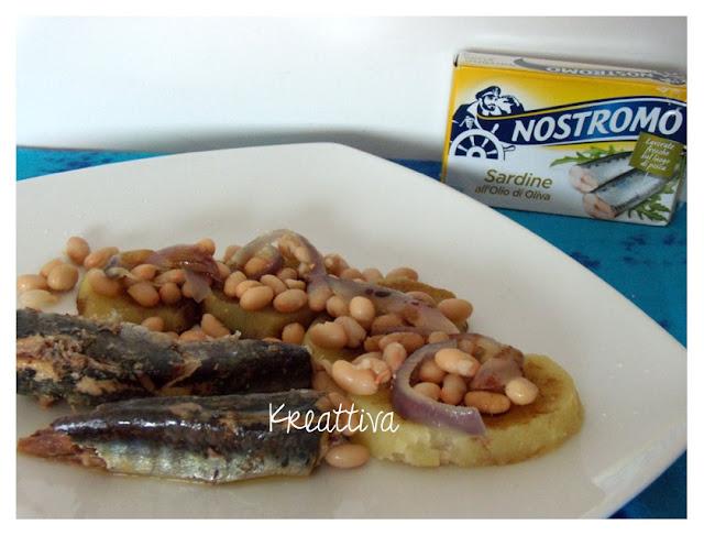 Sardine con patate e cannellini all'aceto balsamico