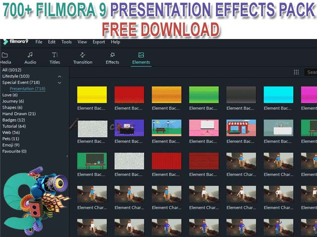 700+ Filmora 9 Effects