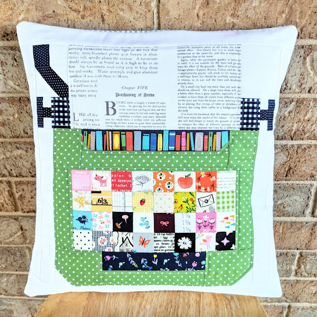 Typewriter Pillow from Spelling Bee by Lori Holt sewn by Heidi Staples of Fabric Mutt