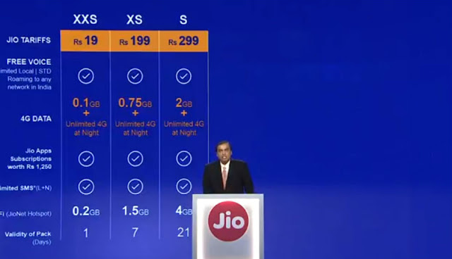 Reliance Jio Official Launch and Tariffs Plans 2 small