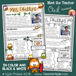Editable-Meet-the-Teacher-Template-Owl-Theme