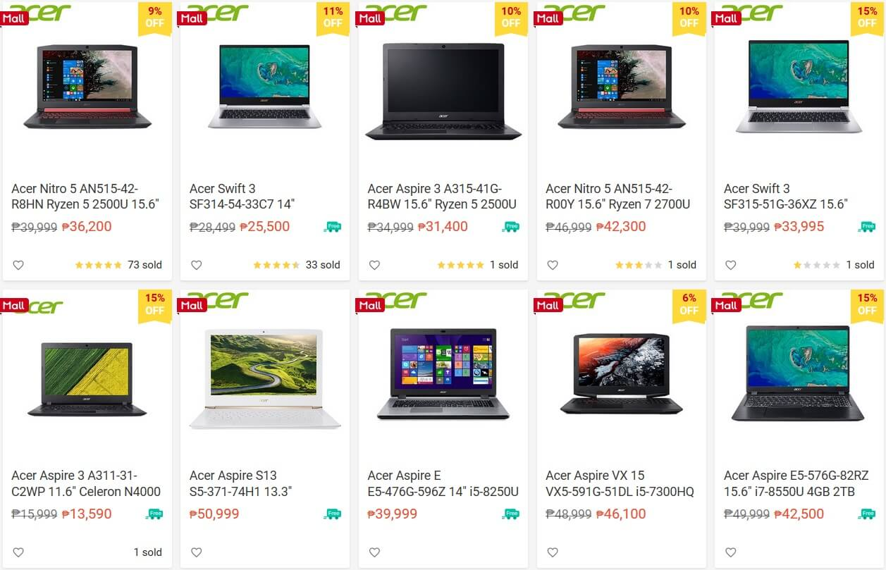 Acer Joins Shopee 3.3 Mega Shopping Day with Exclusive Offers
