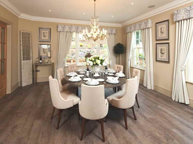Modern Room with Round Dining Tables Modern Room with Round Dining Tables 1