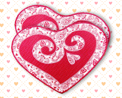 Sweethearts Valentine Placemat Pattern by monica curry