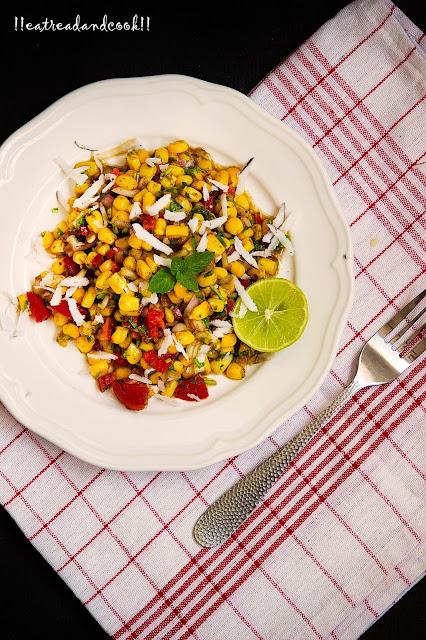 Chatpata Corn corn salad recipe