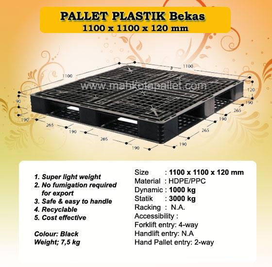 Pallet Plastik 110x110x12 Untuk Pengiriman dan Ekspor