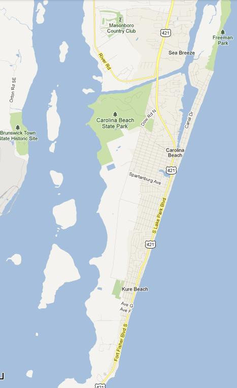Pleasure Island Nc Map Pleasure Island, NC: Tour Of Pleasure Island