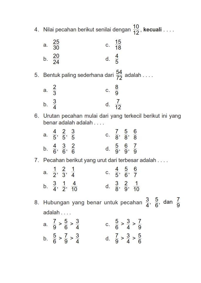 Contoh Soal Uts Matematika Sd Kelas 4 Semester 2 Soal Latihan Ukk Pendidikan Agama Kristen Kelas