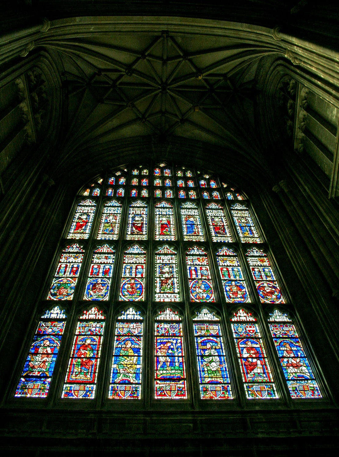 Canterbury Cathedral stained glass window.