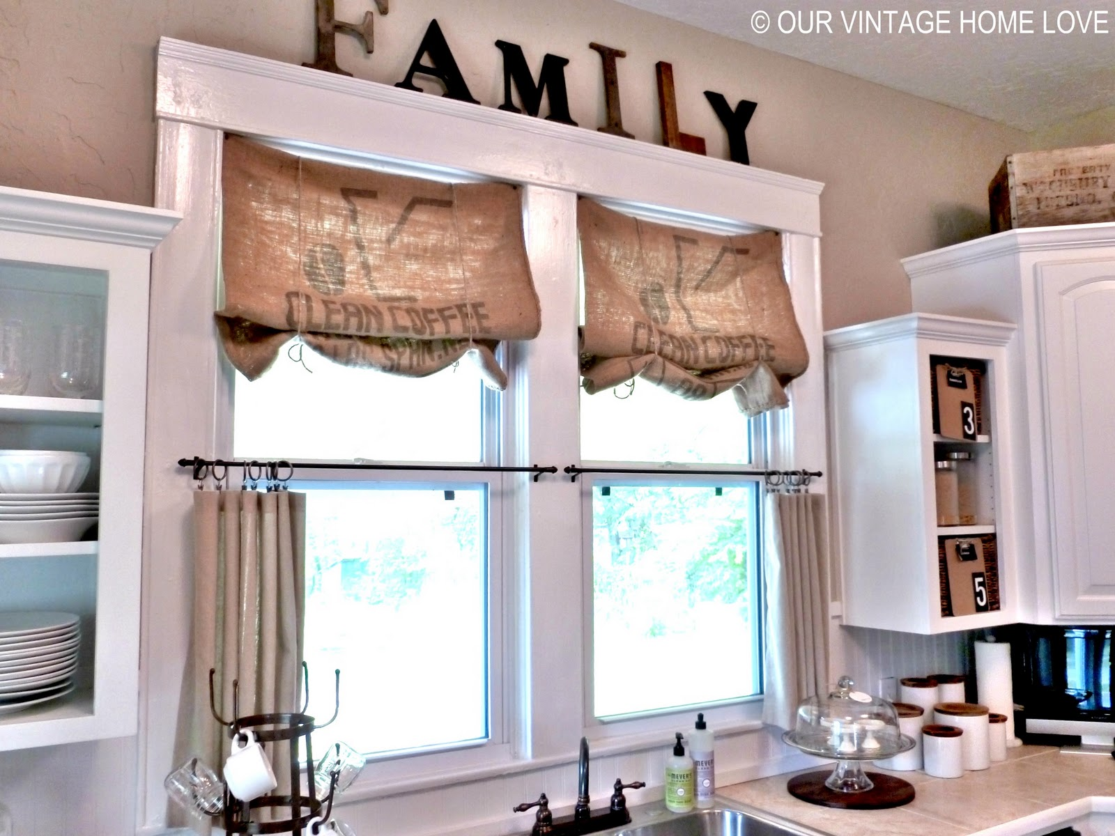 Our Vintage Home Love Inexpensive Window Treatments And A Giveaway