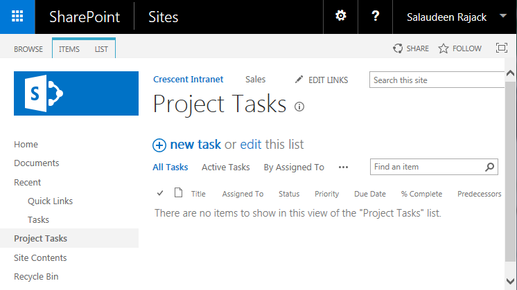 sharepoint 2013 powershell create task list