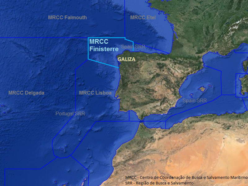 mapa maritimo de portugal GUARDA COSTEIRA DA GALIZA | NÁUTICO mapa maritimo de portugal