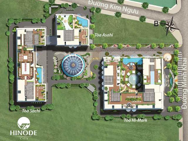 Mặt bằng tổng thể dự án Hinode City