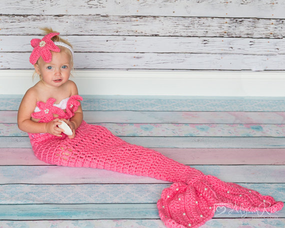 Crochet Baby Mermaid Outfit Chd006 Pink Pikaboo Baby Shop
