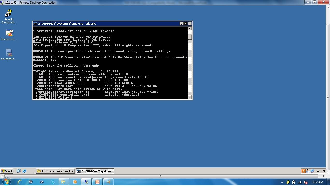 Remote Infrastructure Management: TDP SQL SERVER CONFIGURATION