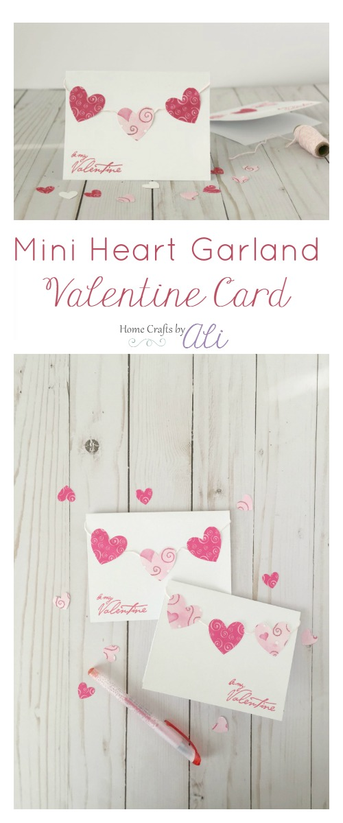 Mini Paper Heart Garland Homemade Valentine Card