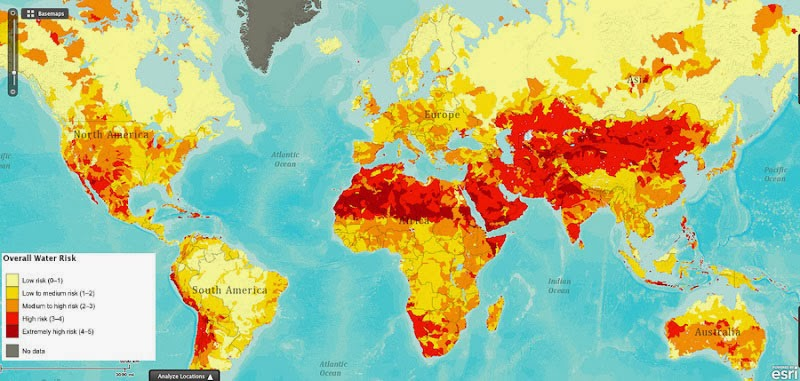 40 Maps That Will Help You Make Sense of the World - Overall Water Risk Around the World