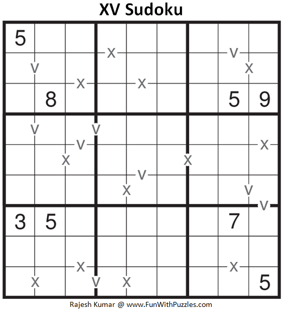 XV Sudoku (Fun With Sudoku #191)
