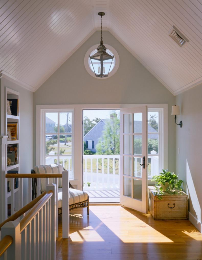 Coastal sitting area in beach house