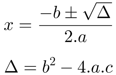 cdf498479dc Na fórmula de Bhaskara