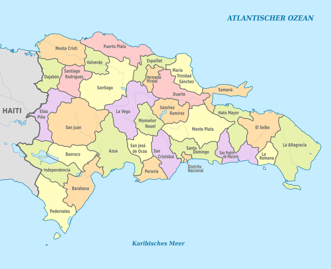 mapa republica dominicana Mapa Político de República Dominicana   Meteorología RD mapa republica dominicana