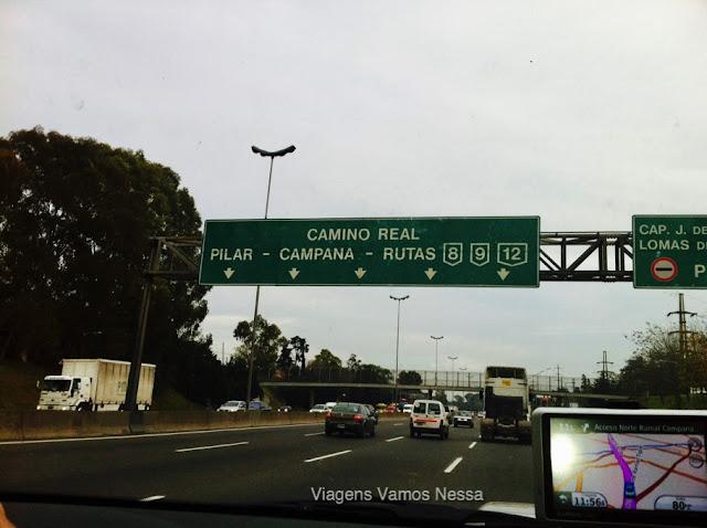 Sinalização saindo de Buenos Aires