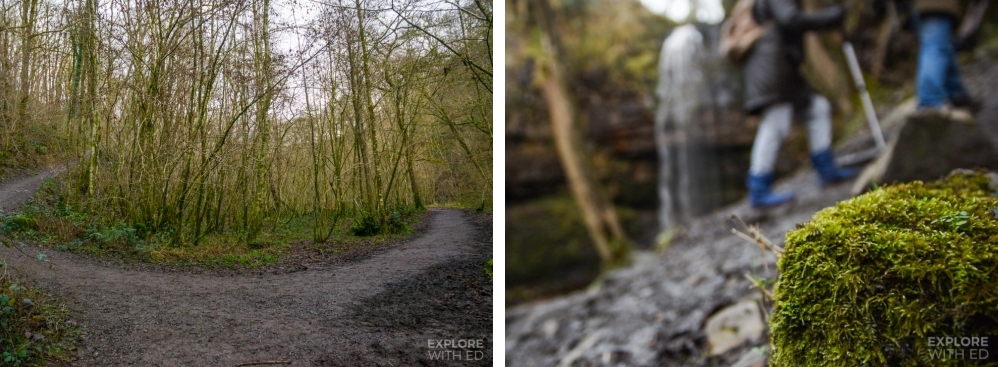The trail from Car park to Henrhyd Waterfall
