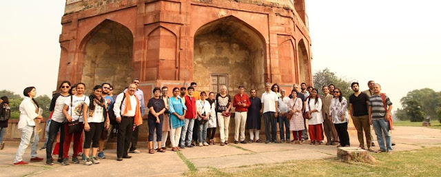 Shazi Zaman with the participants of IHC Heritage Walk ,Purana Qila