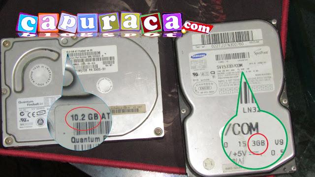 hardisk komputer, kapasitas hardisk